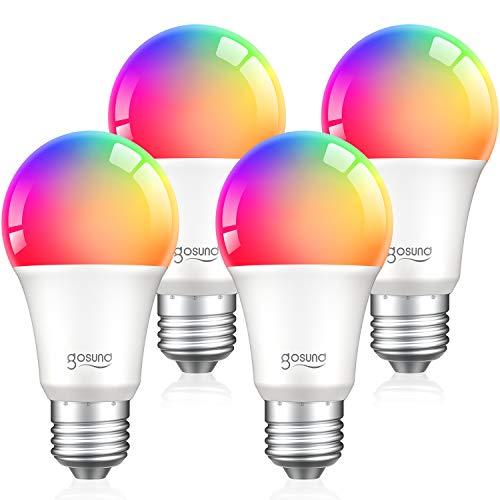 Alexa Smart Light Bulbs, Gosund 75W Equivalent E26 8W WiFi Led Bulb A19 RGB Color Changing Light Bulb Dimmable, Work…