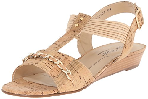 Rose Petals Women's Jasmine Flat Sandal, Gold, 9 M US