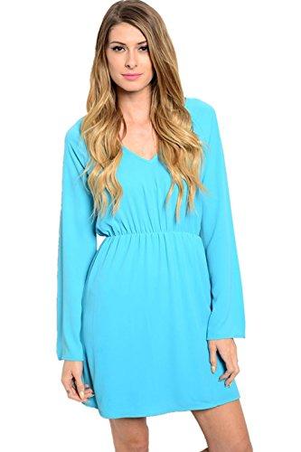h and m blue lace dress - 4