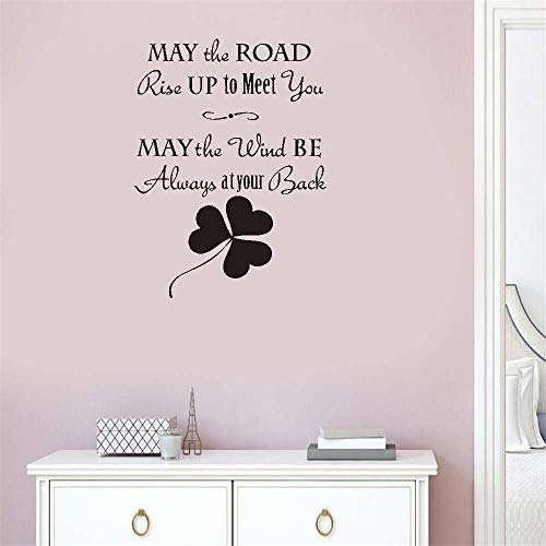 Gisuily Removable Wall Decals Inspirational Vinyl Wall Art May The Road Rise Up to Meet You May The Wind Be Always at Your Back May The Sun Shine Warm Upon Your Face for Living Room Bedroom