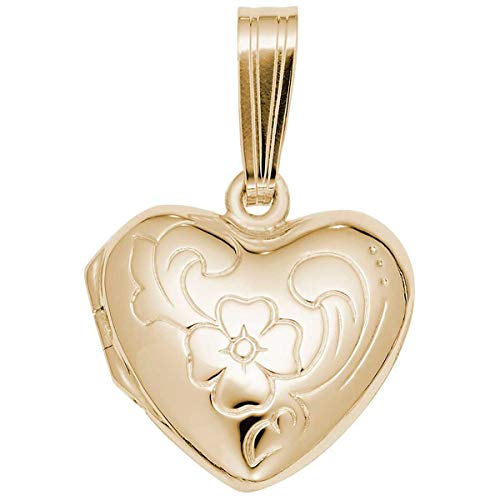 Rembrandt Charms Heart Locket Charm, 10K Yellow Gold
