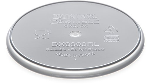Dinex DX3300RL Turnbury Polystyrene Reusable Flat Lid, 4-3/8'' Diameter, Translucent, For 9oz Bowl (Case of 250) by Dinex