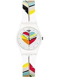 Women's Es War Zeimal LW151 White Rubber Swiss Quartz Fashion Watch