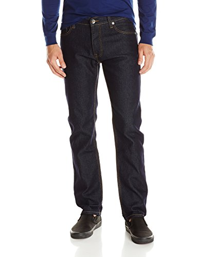 Mens Basic Jean (Southpole Men's Flex Stretch Basic Twill and Rinse Denim Pants, Rinse Indigo, 32x34)