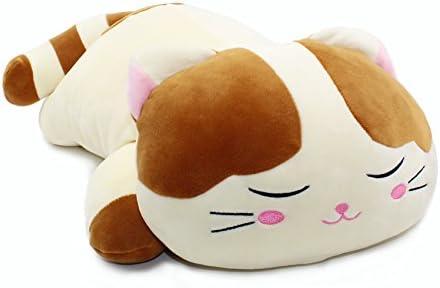 Amazon.com: Vintoys almohada grande de gato muy suave para ...