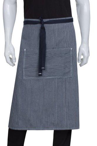 Chef Works Unisex Portland Bistro Apron, Indigo Blue, One Size