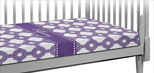 - Connected Circles Crib Fitted Sheet (Personalized)