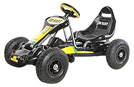 Ricco PB9788A - Kart con Ruedas de Goma y Palanca de Freno, Negro: Amazon.es: Juguetes y juegos