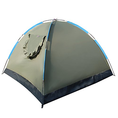 EverKing-3-4-Person-Portable-Outdoor-Folding-Tent-Lightweight-Waterproof-Single-Layer-Backpacking-Tent-for-Outdoor-Sports-Camping-Hiking-Travel-Beach-with-Carrying-Bag