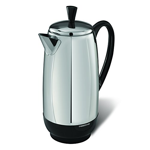 Farberware FCP412 Percolator, 12-Cup, Stainless Steel