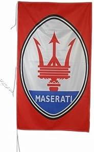 Maserati Banner RED Flag Banner 3 X 5 ft