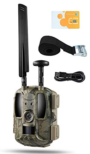 - Kuool New D40 Trail Camera 4G LTE Cellular (AT&T SIM Card Included/T-Mobile) & GPS Hunting Camera,Game Camera,Wildlife Camera 12MP 1080P Full HD Trail cam, 52 Pcs IR LED Waterproof Infrared Game Cam