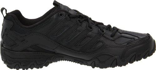 Skechers para el trabajo 76492 Las compulsiones Chant con cordones de zapato de trabajo Negro - negro