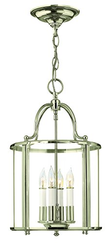 Hinkley 3474PN Traditional Four Light Foyer from Gentry collection in Chrome, Pol. - Gentry Foyer Pendant