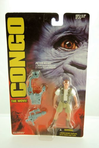 1995 - Congo The Movie - Peter Elliot Action Figure - With Night Scope Backpack & Tracer Assault Weapon - Limited Edition - Mint - Collectible