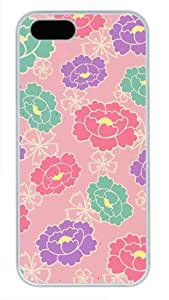 Floral Print Pattern-7 Sakuraelieechyan Iphone 5/5S Hard Shell White Case