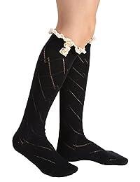 Avidlove Women Socks Lace Trim Leg Warmers Button Boot Cuffs Toppers