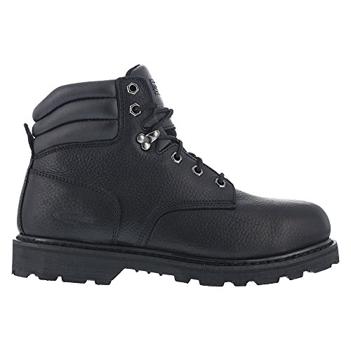 Knapp Men's 6'' Steel Toe Leather, Rubber Work Boots Black