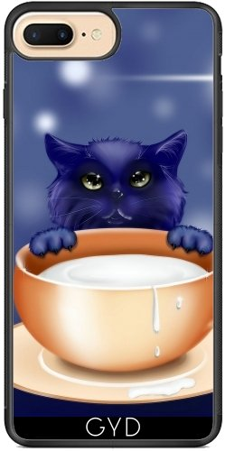 Coque Silicone pour Iphone 7 Plus / 8 Plus - Fantaisie Chat Chaton Bébé Animal by WonderfulDreamPicture