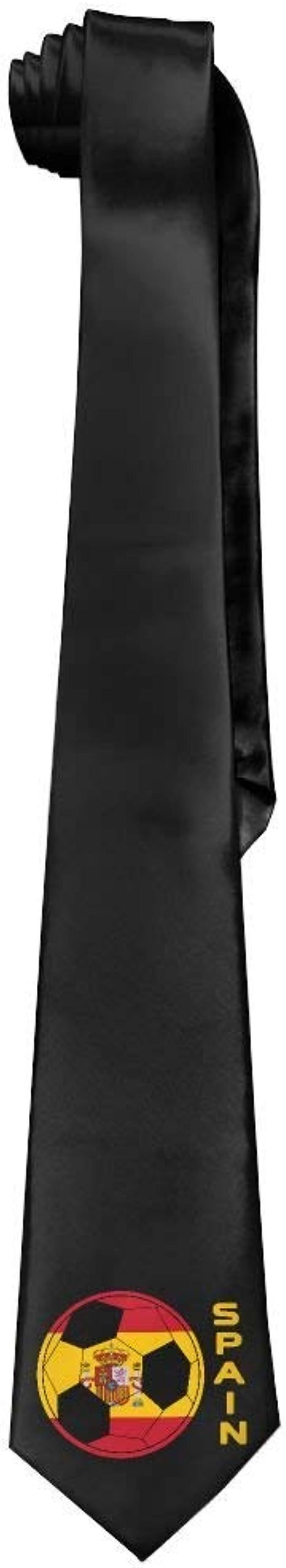 Jxrodekz Moda Española Bandera Fútbol Hombre Corbata Larga Corbata Delgada Corbata Seda: Amazon.es: Ropa y accesorios