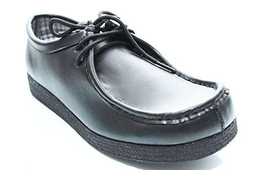 G0765A - Mocassins en cuir à lacets - homme - Noir