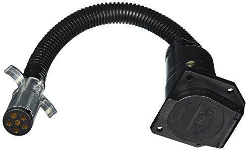 Collection Chrome Plug (RV Designer P725 6-Way Round Plug to 7-Way RV Socket Harness Adapter)