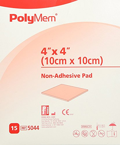 PolyMem Cloth Wound Dressing Pad, Non-Adhesive, 4