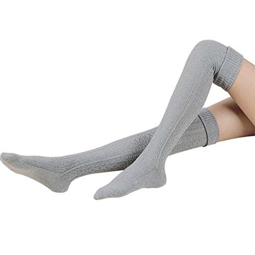 Ordenado Womens Spring Sexy Over Knee Leg Warmer Crochet Thigh High Boot Socks Girls -
