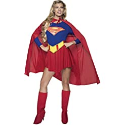 Rubie'S DC Comics Deluxe Supergirl Costume, Red/Blue, Medium