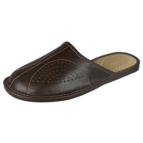 aveego - Zapatillas de estar por casa para hombre marrón oscuro