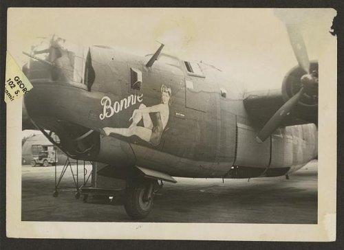 Photo: Nose art on a B24 Liberator,bomber,pin-up girl named (Pin Up Girl Website)