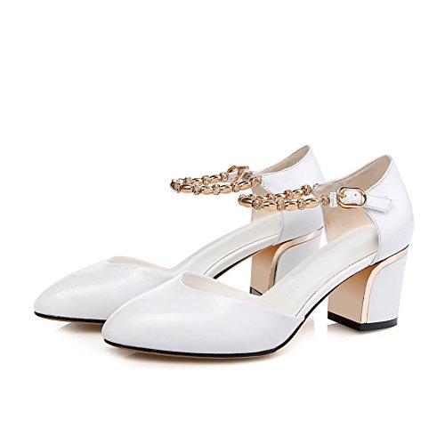 Blanc Compensées ASL05176 Femme Sandales BalaMasa FH8YqI
