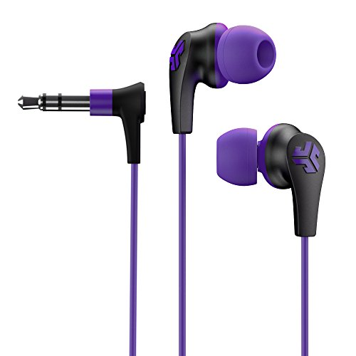 JLab Audio JBuds2 Premium in-Ear Earbuds Guaranteed Fit, Guaranteed for Life - Purple (Indianapolis Colts Earbuds)