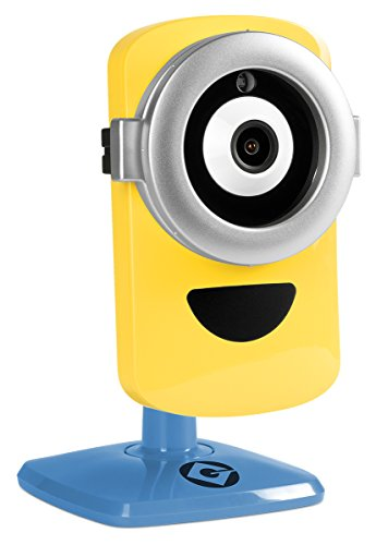 Despicable Me 3 – Minion Cam Hd Wi-Fi Surveillance Camera with Night Vision and 2-Way Talk, Yellow Blue MinionCam
