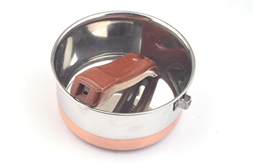 PRC NICKEL FREE Copper Band Stainless Steel 1.2 QT Sauce Pan (No Toxic Non Stick Coating, 7 Inch) - Cookware Set - Cookware Pots And Pans Set ()