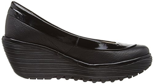 Fly London Yoko Mousse/Damani - zapatos de vestir de cuero mujer negro - Black/Black