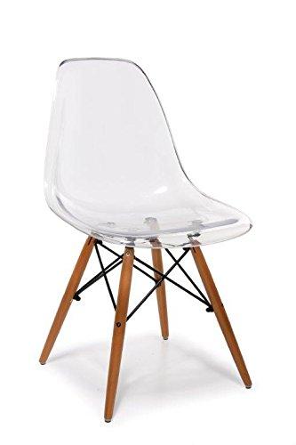Set X 4 Sedia dal design moderno in policarbonato o ABS e gambe in ...