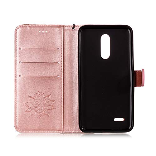 AIIYG DS,LG K30 Case,LG Premier Pro LTE/Phoenix Plus Wallet Case,Classic 3D Mandala Pattern [Kickstand Feature] Flip Folio Leather Wallet Case with ID and Credit Card Pockets For LG K10 2018/Rose Gold by AIIYG DS (Image #2)