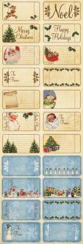 (Reminisce Dear Santa Tickets and Tags Sticker)