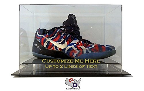 Custom Create Your Own Text Shoe Display Case Size 12 and Under by GameDay - Your Glasses Create Own