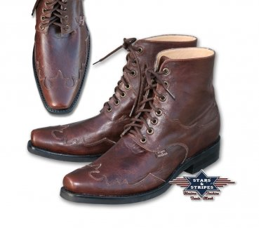 Stars & Stripes Westernboots Henderson brown