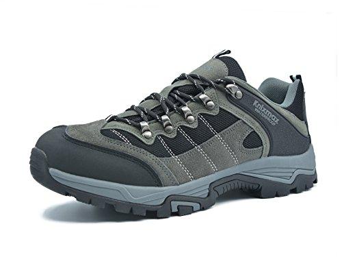 Knixmax Damen Wanderschuhe Hiking Schuhe Outdoor Anti-Rutsch-Sohle Wasserdicht Trekking-Wanderhalbschuhe Grau