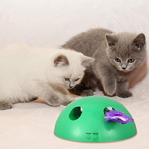 Shydie Cat Interactive Motion Toys, Cat Feather Mice Teaser Toys with Smart Electronic Random Moving Feather and Mouse, Newest Cat Teaser Toys for Cats and Kittens, Best Gift 4