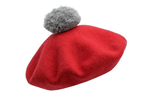 Bobbl Beret (Red)