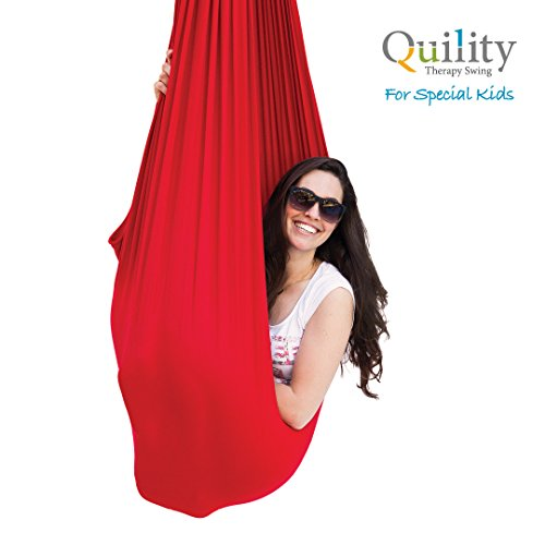 Quility Indoor Therapy Swing for Kids with Special Needs | Lycra Snuggle Swing | Cuddle Hammock for Children with Autism, ADHD, Aspergers | Ideal for Sensory Integration (Up to 165lbs, (Sensory Integration Therapy Toys)
