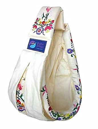 Amazon Com Baba Slings Embroidered Baby Carrier Cream Child