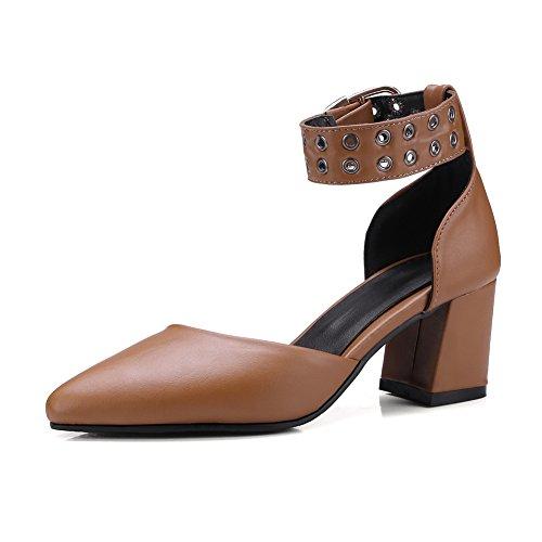 ASL05457 Sandales Compensées Marron BalaMasa Femme pwqpv
