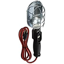 Designers Edge E233 16/3-Gauge Incandescent Garage Work Light with Metal Bulb Guard, Chrome, 150-Watt, 6-Foot