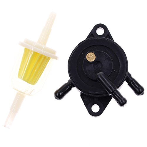 Fuel Pump for Kohler 17HP-25 HP Small Engine Lawn Mower Tractor, Gas Vacuum Fuel Pump with Fuel Filter for Honda Yamaha Briggs & Stratton John Deere ()