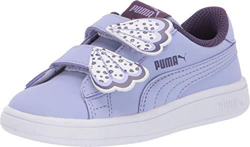PUMA Baby Smash Velcro Sneaker, Sweet Lavender-Indigo White, 9 M US Toddler